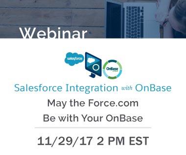 Rectangle Banner for Webinar: Salesforce Integration with OnBase