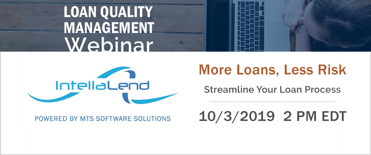 Open graph image for Webinar: Loan Quality Management - More Loans, Less Risk. Streamline Your Loan Process. 3-OCT-2019 2 PM EDT