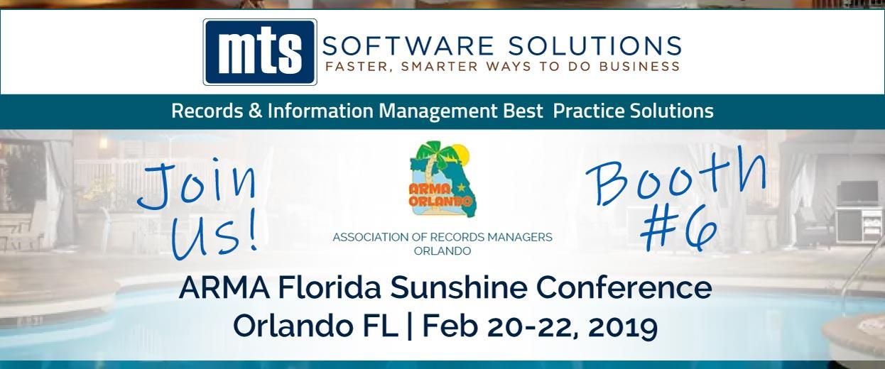 Banner pop-under for Event: ARMA Orlando Florida Sunshine Conference Feb 20-22, 2019