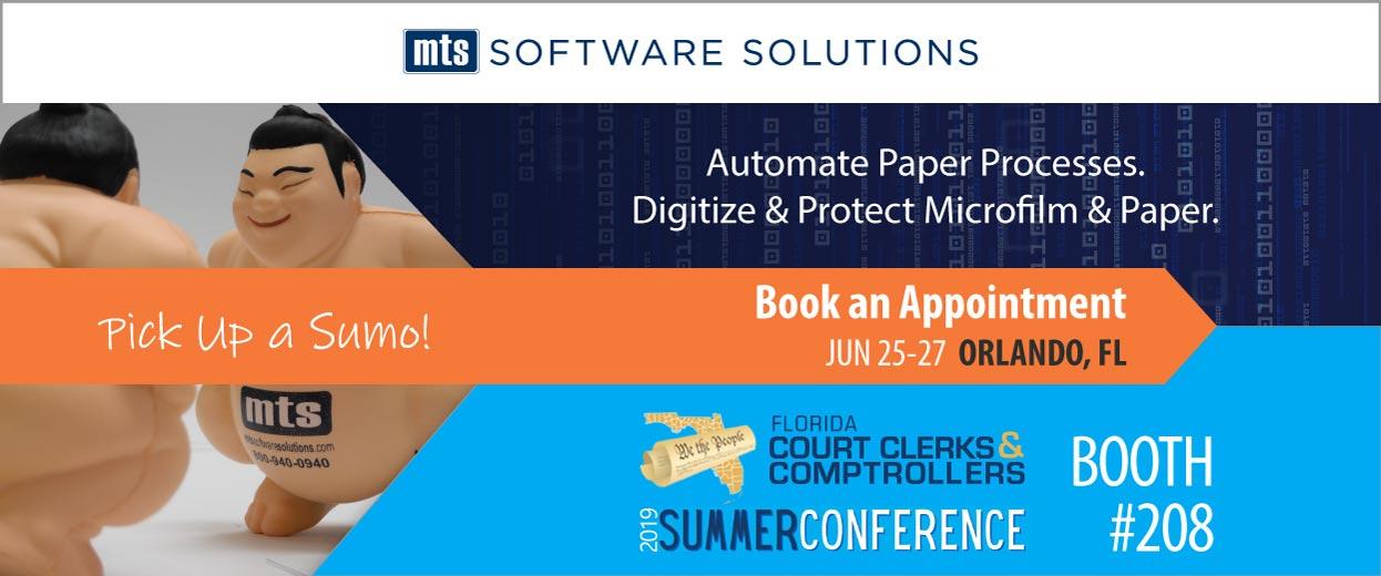 Banner pop-under for Event: Florida Court Clerks Comptrollers 2019 Summer Conference June 25-27 Orlando FL