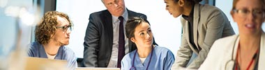 Healthcare industry mini banner