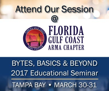Banner rectangle image for event: ARMA Florida Gulf Coast Chapter 2017 Educational Seminar: Bytes, Basics and Beyond