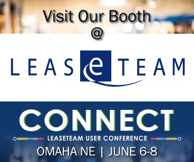 Banner rectangle for Event: Visit Our Booth at CONNECT LeaseTeam User Conference in Omaha NE June 6-8