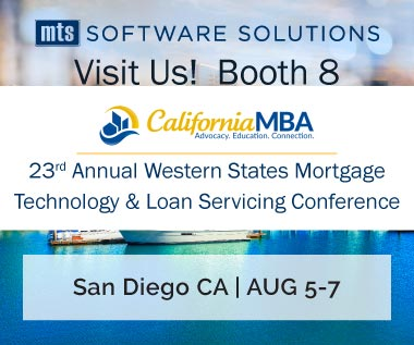 Rectangle Banner for Event: CA MBA 23rd Annual Western States Mortgage Technology & Loan Servicing Conference, August 5-7, 2018