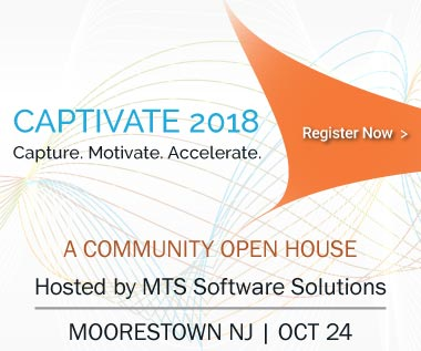 Banner rectangle for Event: CAPTIVATE 2018 - A Community Open House hosted by MTS Software Solutions, October 24