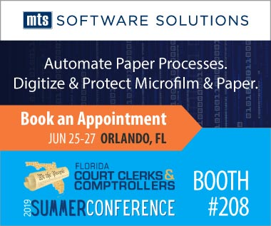 Banner rectangle for event: Florida Court Clerks Comptrollers 2019 Summer Conference June 25-27 Orlando FL