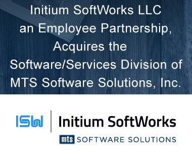 Banner Rectangle for Press Release: Initium SoftWorks LLC, an Employee Partnership, Acquires the Software/Services Division of MTS Software Solutions, Inc.