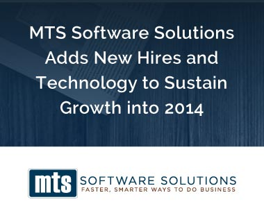 Banner rectangle for Press Release: MTS Software Solutions Adds New Hires and Technology to Sustain Growth into 2014