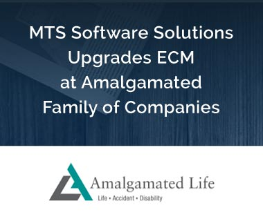 Banner rectangle for Press Release: MTS Software Solutions Upgrades ECM at Amalgamated Family of Companies