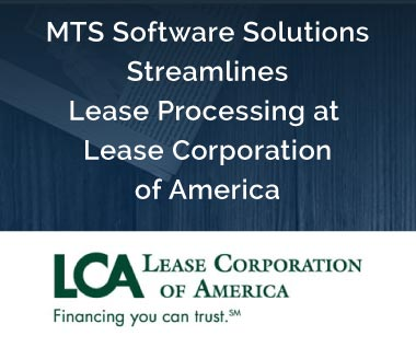 "Banner rectangle for Press Release: BNY Mellon & MTS Software Solutions Recognized for ""ABBYY Project of the Year""MTS Software Solutions Streamlines Lease Processing at Lease Corporation of America"
