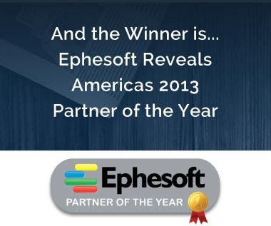 Banner rectangle for Press Release: And the Winner is... Ephesoft Reveals Americas 2013 Partner of the Year