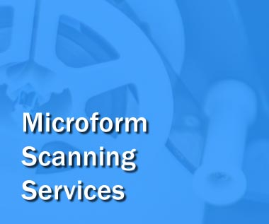 Banner rectangle for Web Page: Microform Scanning Services