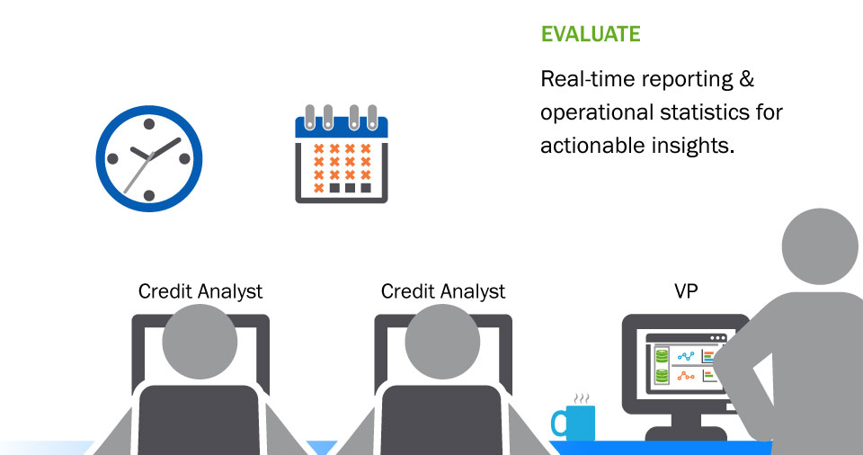 illustration: Evaluate - Real-time reporting &operational statistics foractionable insights.