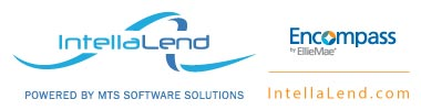 Logo IntellaLend Powered by MTS Software Solutions Integrated into Encompass by Ellie Mae