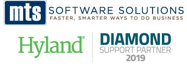Logo MTS Software Solutions, Hyland Diamond Support Partner 2019
