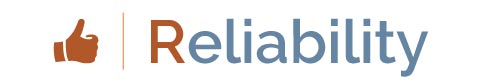 Logo for Customer SERVICE Promise: Reliability