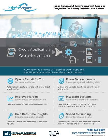 Intellalease  Credit Application Acceleration  Mts Software Solutions