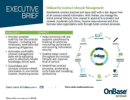 Infographic: Executive Brief: OnBase for Contract Lifecycle ...